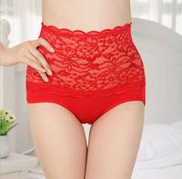 10Pcs/Lot 2013 New Autumn Women's Sexy Lace Sculpting High-waist Hip Panties Underwear Women's Bamboo fiber Panties(6 colors)