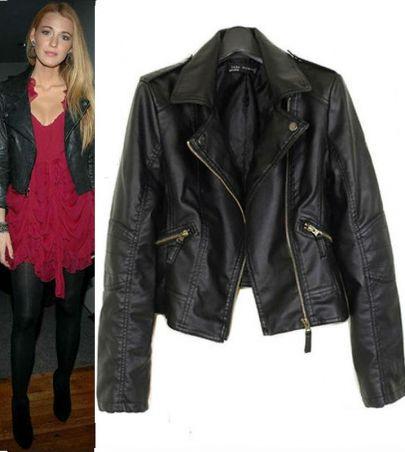 Женская одежда из кожи и замши Hot fashion PU coat035