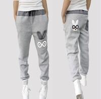 Women Sport Pants Casual Sweatpants Loose Cartoon Rabbit Harem Pants Trousers Women Joggers 2015 Spring Women Clothes W146