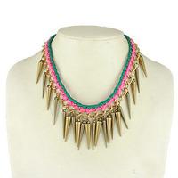 Punk style revit women short necklace Women costume jewellery free shipping HeHuanXLY109