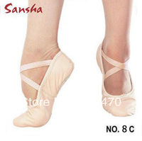 Sansha dance ballet shoes soft outsole canvas upper shoes adult and children flats slippers free shipping