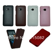 Case For HTC ONE M7 Litchi Pattern PU Leather Case For HTC ONE M7-Free Shipping