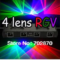 20%off factory price! 280mW 3 Color 4 Lens RGV Laser Light DMX Sound DISCO DJ PARTY Light--Free Shipping