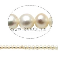 Free shipping!!!Round Cultured Freshwater Pearl Beads,Jewelry Blanks, natural, white, A, 5-6mm, Hole:Approx 0.8mm