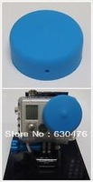 Free shipping Dustproof Anti-Fog Protection Silicone Len Caps For Gopro HD Hero2 Hero 2 Blue gopro accessories