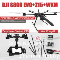 DJI Spreading Wings S800 EVO + Camera Zenmuse Gimbal Z15 + Wookong-M Autopilot  ( WKM With GPS v3)