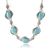 Free Shipping New Arival Vintage Jewelry, Alloy Turquoise Necklace Collar Women's Choker Necklace