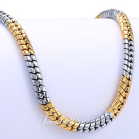 2.5/4MM 18K Gold Silver Filled Necklace Snake Chain Necklace Mens Chain Womens Necklace 18KGF Wholesale Jewelry Gift GNW8