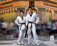 [Maria's] High Quality 1set Women Fashion Slim Taekwondo Uniform Seductive Dobok Tae Kwon Do Clothes For Girls- Free Shipping