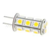 Free Shipment !!! Dimmable G6.35 Led Bulb 24V 18PCS of 5050SMD 3W 396LM White / Warm White Corn Bulb