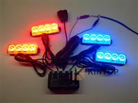 Car LED high power lightning flash warning light wireless remote control open warning escorting light flashing lights 1 drag 4*4