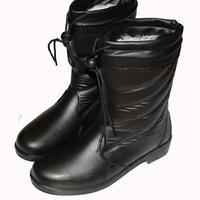 Plush warm winter models authentic women rain boots rain boots work shoes plus cotton shoes warm shoes snow boots women