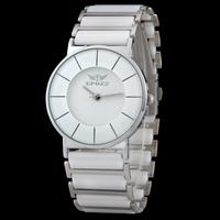 2014 Best Gift Top Quality Waterproof  White Ceramic Watch Women Dress Quartz Wristwatches relogio feminino brand Free Shipping