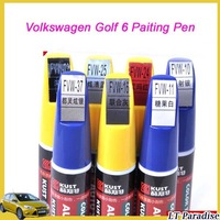 2pcs/lot Volkswagen Golf 6 Painting Pen Car Scratch Repair Pen 6 Colors Car Accessories Auto Supplies K0206