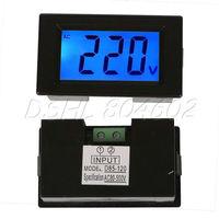 Black Digital Blue LCD Volt Voltage Meter AC80-500V 3 Digits Voltmeter