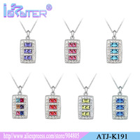 Fashion Healthy jewelry 7 color option beautiful austrian crystal rhinestone Pendants Plated 2013 New Style