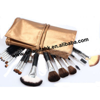 18set/lot   18pcs gold bag packing makeup brush set