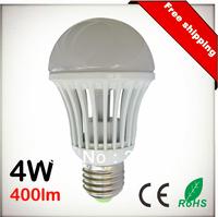Free Shipping 4W 400lm E27 E26 B22 AC110V 220V 100Lm/W COB LED Chip White LED Bulb Spot Light Lamp 10pcs Lot