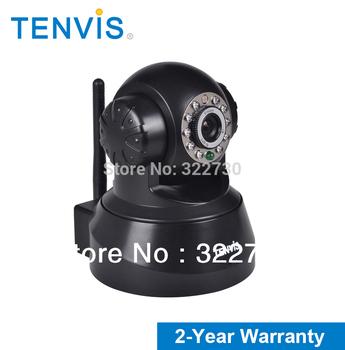 FREE SHIPPING Tenvis Wireless PT IP Wifi CCTV Security camera de ip  Network IR Night Vision wireless ip camera  Black