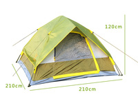 High quality Outdoor Casual Camping 3-4 person Double Layer Instant tent Automatic camping tent Free Shipping By Fedex
