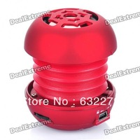 Portable Rechargeable MP3 Player Stereo Speaker with TF Slot - Red Free delivery