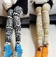 FREE SHIPPING 2013 Ms.  fashion irregular geometric print leggings new winter 3 colors