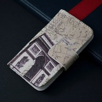 Luxury New design pattern leather case cover for iphone 4 4G 4S, free shipping and screen proctor