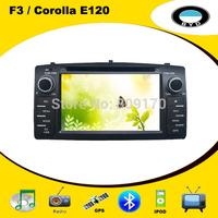 Car DVD GPS for BYD F3 Toyota Corolla E120 with radio, IPOD, Bluetooth,  TV,  USB/SD, Russian Menu+ Free 4GB Map Card