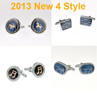 2013 NEW Fashion Classic 4 style Men cufflinks Can be mixed ties high quality Note Horse