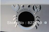 Universal 3D Car Decal Crab Stickers emblem Car Badge For  Suv VW Mazda Mercedes Nissan Jeep Honda