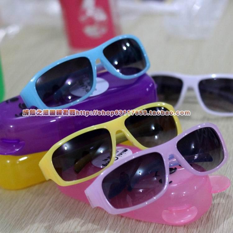 Novos óculos de sol 2014 crianças do sexo masculino bebê criança do sexo feminino óculos anti- uv óculos de sol grandes quadros que você compra isso, vamos enviar-lhe a caixa de presente(China (Mainland))