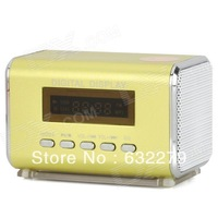 "TAICHEN TC-FSP1000 Portable 1.5"" Screen Media Player Speaker w/ TF / FM - Yellow Green  Free Delivery"