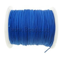 Free shipping!!!Nylon Cord,Personality, blue, 1mm, Length:Approx 100 Yard, Sold By PC