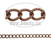Free shipping!!!Iron Twist Oval Chain,Cheap Jewelry, antique copper color plated, nickel, lead & cadmium free, 10x7.80x1.60mm