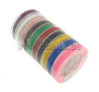 Free shipping!!!Nylon Cord,Korean, mixed colors, 0.80mm, 10PCs/Lot, Sold By Lot