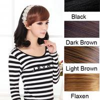 Free Shipping Sweet Lady Girls Oblique Bangs Fringe Wigs headwear Headband Hair Decoration New LX0052 Drop Shipping