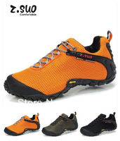 Free shipping brand Z.Suo 2013 men's breathable hiking shoes breathable gauze athletic shoes fashion outdoor hiking shoes 39-44