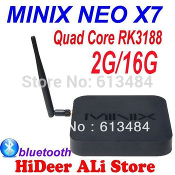 New! MINIX NEO X7 RK3188 Quad Core Mini PC 2G/16G WiFi HDMI USB RJ45 Android TV Box bluetooth built in