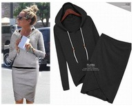 Women's Casual Sport Hoodies Suits Hooded Hoodies+Skirt Sweatshirt HO-054