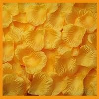 Free Shipping 1000pcs/lot wedding Table Decorations silk rose petals orange yellow color