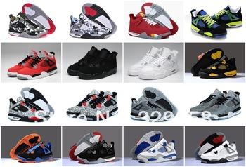 2013 New Cheap Athletic Men's Retro J4 Basketball Shoe  for Sale 14 Colors Super A+ Top Quality EUR Size 41-47