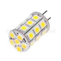 Free Shipment !!! Dimmable GY6.35 27Led G6.35 Lamp Lighting Bulb 12vdc 5050SMD 4W  White & Warm White 5pcs/lot