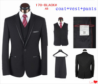 2013 New Fashion 3 Pieces Men Suits Business Suits Formal Dress Suits Brand Names Wholesale Price In Stock