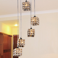 Free shipping Free shipping simple modern K9 crystal pendant chandelier living room bedroom dining room Art FRHC/71