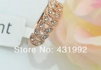 Italina brand fashion elegant crystal jewelry gift leaves Korea 2013 new female ring