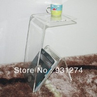 Acrylic coffee table  with magazine rack Wholesale And Retail tea table Free Shipping modern night stand for bedroom furniture