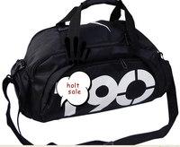 Free shipping shoes messenger bag football backpack basketball bag popular multi-function gym bag sports bag black and yellow