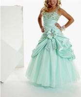 HOT Sale Halter Girl Kids Pageant Dress Ball Gown Formal DRESSSIZE4 6 8 10 12 14