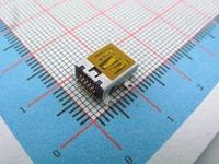Free shipping 100Pcs mini USB 10 Pins Female Socket SMD PCB Connector RoHS#1311