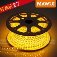 Led strip super bright 5050 living room ceiling smd lamp belt waterproof flexible strip 220v 60 beads meters